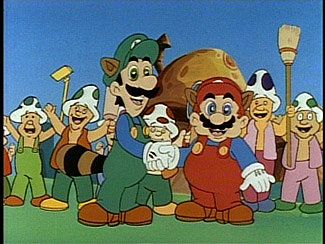the next season of the show wisely ditched the live action bits and hired real voice actors for mario and luigi the adventures of super mario bros