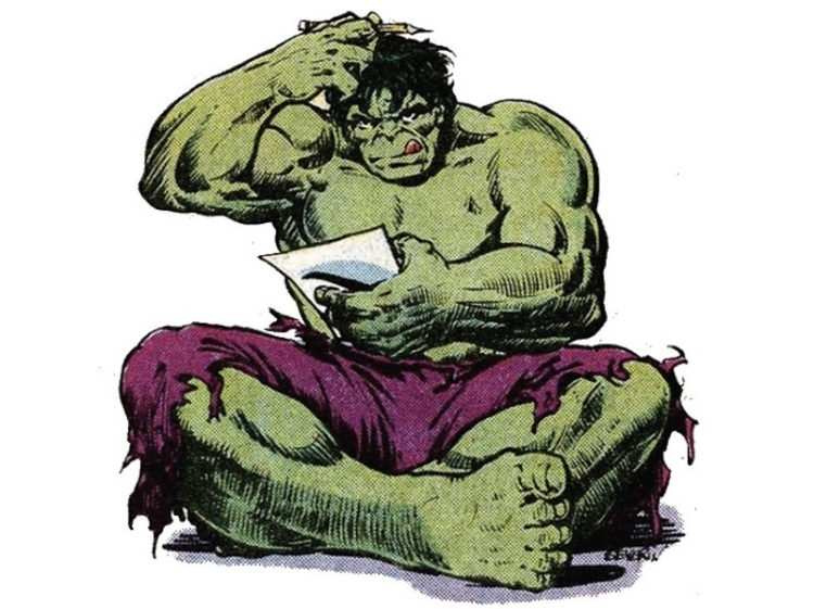 hulk writing