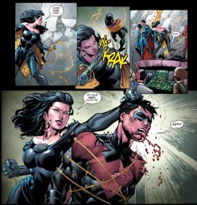 Forever Evil #1, Nightwing Unmasked