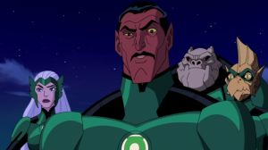 Sinestro, the main character, and some other people