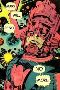 The Kirby Dot with his creation, Galactus