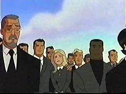 Dan Turpin's Funeral in Superman: TAS